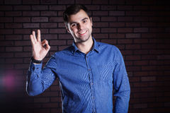 Young guy  frowns Royalty Free Stock Images