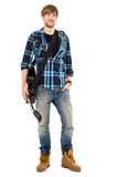 Young guy with guitar Stock Image