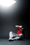 Young guy hiding his face from light Royalty Free Stock Images