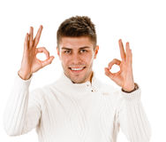 Young guy indicating ok sign Stock Photography
