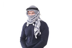 Young guy in a keffiyeh Royalty Free Stock Photography