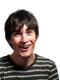 Young guy is laughing out loud Royalty Free Stock Photography