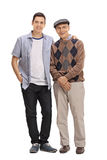 Young guy and a mature man posing together Stock Photo
