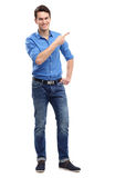 Young guy pointing Stock Image