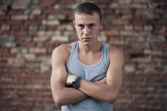 Young Guy. Portrait On Street Royalty Free Stock Image