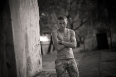 Young Guy. Portrait On Street Stock Images