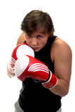 Young guy in sport boxing gloves Stock Photo