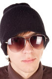 Young guy in sunglasses . Royalty Free Stock Photography