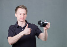 Young guy taking selfie Royalty Free Stock Image