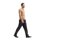 Young guy walking Royalty Free Stock Images
