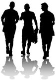 Young guys coming Stock Photo