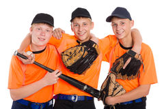 Young guys in shape for the game of baseball Stock Images