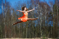 Young gymnast doing exercises Royalty Free Stock Image