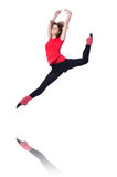 Young gymnast exercising Royalty Free Stock Image