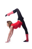 Young gymnast exercising Royalty Free Stock Photo