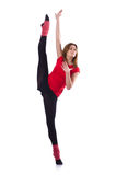 Young gymnast exercising Royalty Free Stock Photography