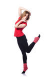 Young gymnast exercising Stock Photos