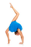 Young gymnast girl doing exercises stock photography