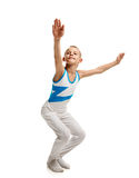 Young gymnast stretching Stock Photo
