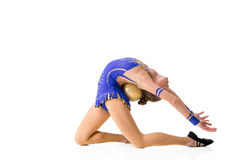 Young gymnast on a white background. Stock Image