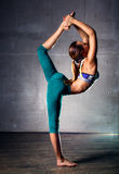 Young gymnast woman Stock Photo