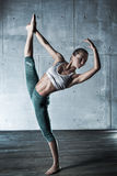 Young gymnast woman Royalty Free Stock Photos
