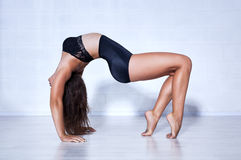 Young gymnast woman Royalty Free Stock Photography