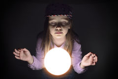 Young gypsy fortune teller Stock Photos