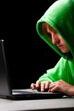 Young hacker Stock Image