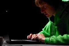 Young hacker stock photos