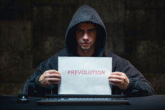 Young hacker and cyber revolution Stock Photography
