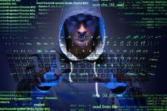 The young hacker in cyber security concept