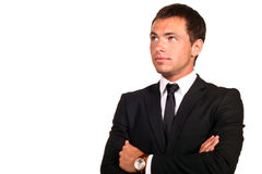 Young hadsome businessman. Portrait of a young hadsome businessman royalty free stock photos