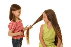 Young  hairdresser Stock Photo