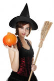 Young halloween witch Royalty Free Stock Photos