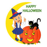Young halloween witch Royalty Free Stock Image