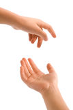 Young hand actions Royalty Free Stock Photo