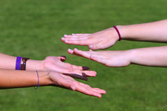 Young hands Stock Photography