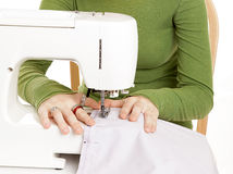 Young Hands Sewing Royalty Free Stock Photo