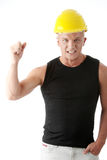 Young handsome angry builder. Stock Photos