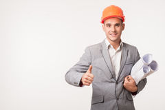 Young handsome architect engineer posing Stock Photography