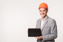 Young handsome architect engineer posing Stock Images