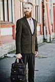 Young handsome attractive bearded model man Royalty Free Stock Photography