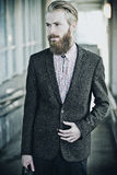 Young handsome attractive bearded model man Royalty Free Stock Photos