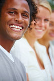 Young handsome black man smiling Royalty Free Stock Photo