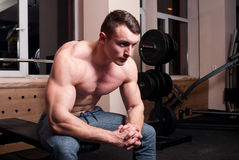 Young and handsome body builder Royalty Free Stock Photography