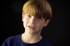A Young Handsome Boy and His Green Braces Stock Image