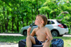 Young handsome boy royalty free stock images