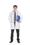 A young and handsome brunette Caucasian doctor Royalty Free Stock Photos
