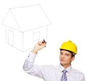 Young handsome builder Stock Photography